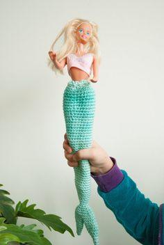 Patroon voor een gehaakte zeemeermin staart voor barbie - door Warrelwater https://www.etsy.com/nl/shop/Warrelwater
