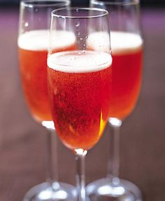Indulge guests with this celebratory cocktail recipe made with vodka, Campari and champagne.