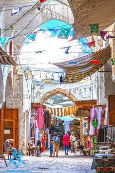 The old market in Tripoli السوق العتيق ب #طرابلس By Nahla Babetti