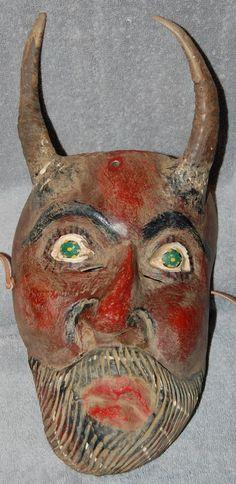 Old Mexican Diablo mask Devil