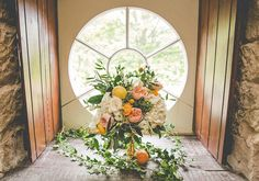 Whimsical Bouquet Lemons Roses Yellow Wild Flowers Bride Bridal Playful Peach Wedding Ideas http://www.kelleequinnphotography.com/