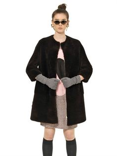 MARNI - SHEARLING FUR COAT - LUISAVIAROMA - LUXURY SHOPPING WORLDWIDE SHIPPING - FLORENCE