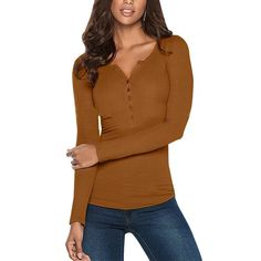 Knitted Pullover Tops Casual Slim Solid Color