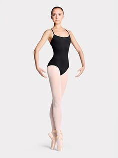 Adult Rouleaux Loop Twist Back Camisole Leotard