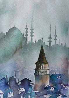 Watercolor By Aynur Akalin Turkey