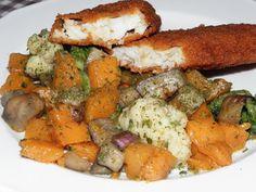 Sütőtök és társai wokban sütve - Nsppress.hu Empanadas, Ratatouille, Wok, Curry, Meat, Chicken, Ethnic Recipes, Bulgur, Curries