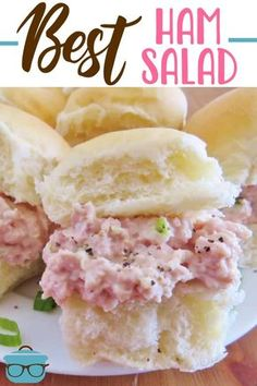 The best ham salad recipe only requires a food processor, mayonnaise, celery, onion and perfectly combined seasonings! This is the most requested ham salad! #hamsalad #homemade