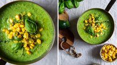 Polévka, která svítí barvami! Přesně taková je naše dnešní cuketová s kukuřicí. Vyzkoušejte ji, určitě nebudete litovat. :) Food Styling, Guacamole, Hummus, Soup Recipes, Cantaloupe, Foodies, Fruit, Ethnic Recipes, Soups