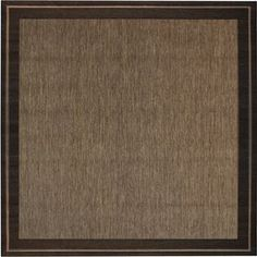 $80 New Haven Square Brown with Black Border Indoor/Outdoor Area Rug (Common: 7-ft x 7-ft; Actual: 6-ft 9-in x 6-ft 9-in)