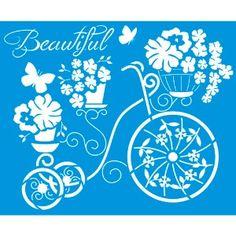Stencil-172x211-Bicicleta-com-Flores-STM-307---Litoarte