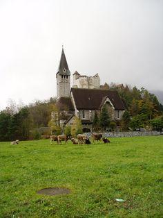 Lichtenstein a country between Switzerland and Austria