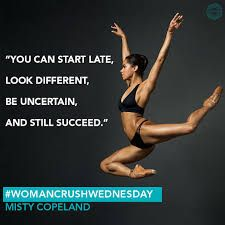 Misty Copeland, the first African American Female Principal Dancer with the prestigious American Ballet Theatre.