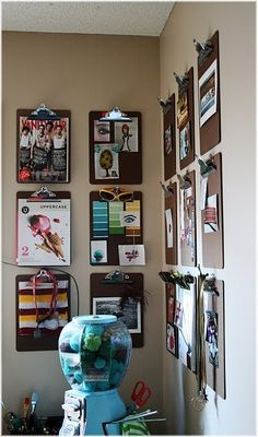 A little publishing corner...I'd love to decorate the clipboards and use for students to publish their writing.