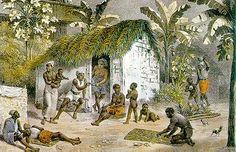 Habitação de negros do período colonial.