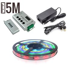 5m RGB LED Pixel Tape Kit Studio Interior, Strip Lighting, Tape, Coding, Led, Duck Tape, Band, Programming, Ice