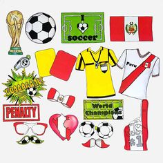 World Cup PERU soccer photo booth props - the ultimate fan accessory - 2018 FIFA Soccer Championship in Russia - support Perú - fútbol Peru Soccer, Soccer World, Soccer Fans, Peru Flag, Switzerland Flag, Soccer Party, Fathers Day Crafts, Photo Booth Props, Sign I