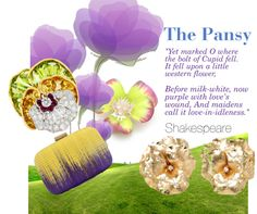 The Pansy: Yet marked O where the bolt of Cupid fell. It fell upon a little western flower. #Pansy #wedding