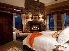 Beautiful Cozy Master Bedroom..Nice Fireplace........