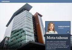 Mots tabous - La Presse+ Barack Obama, Prison, Les Continents, Skyscraper, Multi Story Building, Film, Photos, Taboo Words, Canadian Artists