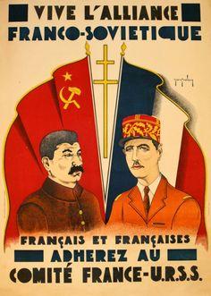 "Jean Grinberg, ""Long Live the Franco-Soviet Alliance,"" ca. 1940s"