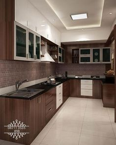 Modern Kitchen Interior Remodeling 4 bedroom apartment at SJR Watermark: modern Kitchen by ACE INTERIORS - Here you will find photos of interior design ideas. Get inspired! Kitchen Ceiling Design, House Ceiling Design, Ceiling Design Living Room, Kitchen Room Design, Modern Kitchen Design, Interior Design Kitchen, Home Room Design, Modern Ceiling Design, Interior Ideas