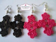 Tutorial 5. * Orecchini con 4 fiorellini all'Uncinetto * How to Flower Crochet - YouTube