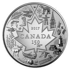 カナダ建国150周年3ドルコイン