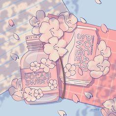 Soft Wallpaper, Anime Scenery Wallpaper, Aesthetic Pastel Wallpaper, Cute Anime Wallpaper, Cute Cartoon Wallpapers, Animes Wallpapers, Aesthetic Wallpapers, Arte Do Kawaii, Kawaii Art