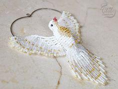 Colomba bianca Suncatcher ornamento in rilievo colomba