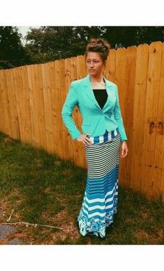 Color block floral striped max skirt! - Apostolic Clothing #modest #skirts
