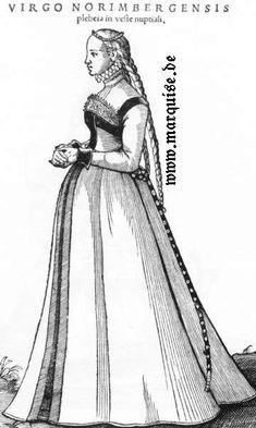 Hans Weigel's Book of Costume 1577: Virgo Norimbergensis