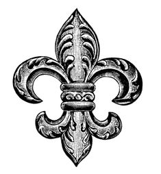 Victorian jewelry clipart, antique jewellery image, fleur de lis graphics, black and white clip art, old fashioned brooch illustration