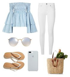 """""""Spanish summer in style"""" by milanedmonds-1 on Polyvore featuring Caroline Constas, Burberry, Hollister Co., ETUÍ and Ray-Ban"""