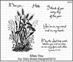 Miss You - Cling Rubber Stamp