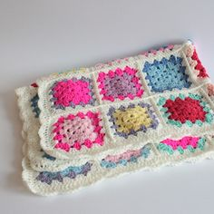 Fluor babydekens - Granny Baby Deken (op maat!) - Een uniek product van firmatique-knits via http://nl.dawanda.com/