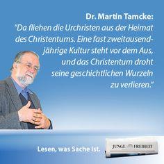 Dr. Martin Tamcke, Professor für orientalische Kirchen- und Missionsgeschichte an der Universität Göttingen, im großen JF-Interview zur Lage des Christentums im Nahen Osten. (JF 37/14)