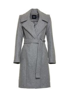 Płaszcz SZARY OPL16885-T0736-00031