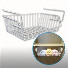 Shelf Basket - Cupboard Basket - White 40 x 27 x 14 cm: Amazon.co.uk: Kitchen & Home