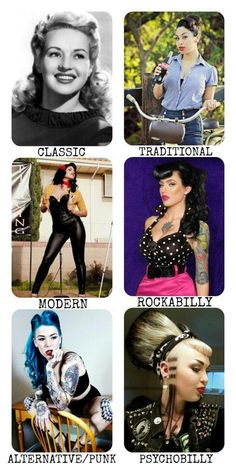The many genres of pinup style <3