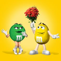 Lovers M&m Characters, Fictional Characters, M&m Mars, Peanut M&ms, M Wallpaper, Melt In Your Mouth, Favorite Candy, Blue Orange, Yellow