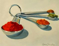 """Daily Paintworks - """"Spice is Nice"""" by Karen Johnston"""