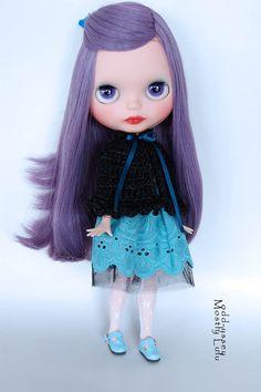 OOAK Basaak Custom Art Doll Blythe Clone with Pure by MostlyLulu