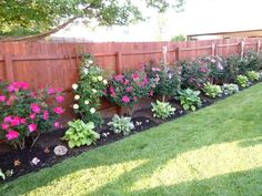Image result for landscaping along fence #ad