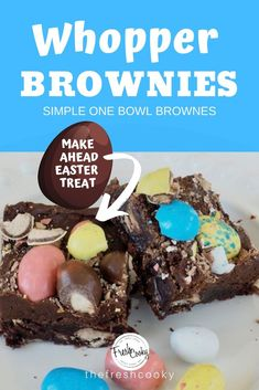 What& better than rich, chewy, fudgy brownies? How about these malty, gooey, chocolatey Frosted Robin Egg Whopper Brownies! Perfect for a special chocolate lovers Easter treat! No Egg Desserts, Desserts For A Crowd, Easy Desserts, Delicious Desserts, Dessert Recipes, Fudgy Brownies, Frosted Brownies, Homemade Brownies, Strawberry Dream Cake Recipe