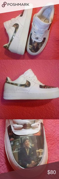 online retailer 76c24 ec647 SCARFACE Air Force Ones These are almost impossible to find, collectors  dream, limited edition Scar Face Air Force Ones by Nike.