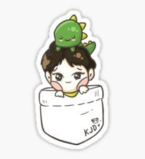 EXO Chen & Mr. Dino Pocket Sticker
