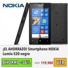 ¡NUEVO PRECIO! NOKIA Lumia 520. Ahora 109€