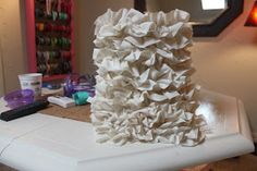 Crafty Texas Girls: Crafty How-To: Ruffled Lamp Shade