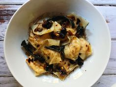 Butternut Squash Ravioli with Brown Butter Sauce, Cranberries, & Walnuts | Yes to Yolks