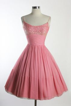 Vintage Elegant pink Beaded Dress. Reminds me of the final dress from Dirty Dancing